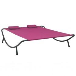 vidaXL Estructura de cama de madera maciza de roble 160x200 cm