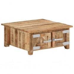 vidaXL Mesa de centro de madera maciza de mango 90x45x35 cm