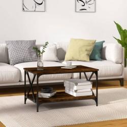 vidaXL Mesa de centro de madera maciza 110x60x37 cm