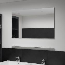 vidaXL Mesita de noche con cajón de madera maciza 44x30x58 cm