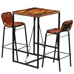 vidaXL Estantería 60x35x180 cm madera maciza de mango