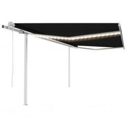 vidaXL Silla de peluquería profesional cuero artificial negro