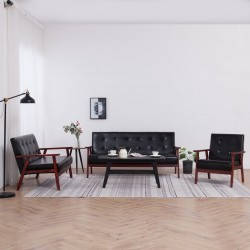 vidaXL Mesa de centro de madera maciza de sheesham 90x50x30 cm