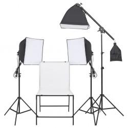 vidaXL Bolso estilo shopper beige 34,5x10x57 cm lona y cuero real