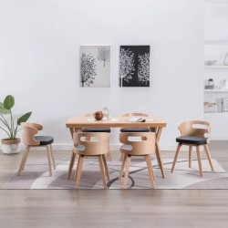 vidaXL Mesita de noche tallada a mano madera reciclada 40x30x50 cm