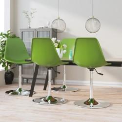 vidaXL Sillón con diseño de cubo de cuero sintético marrón