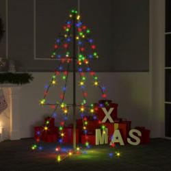 vidaXL Sillón con diseño de cubo y reposapiés cuero sintético dorado