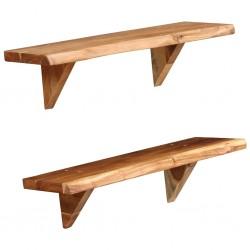 vidaXL Set de sillón con taburete reposapiés 2 piezas tela azul