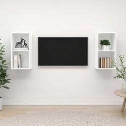 vidaXL Sillón con diseño de cubo cuero sintético marrón