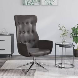 vidaXL Sillón con diseño de cubo con reposapiés cuero sintético marrón
