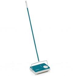 vidaXL Sillón diseño de cubo y reposapiés piel sintética plata brillo