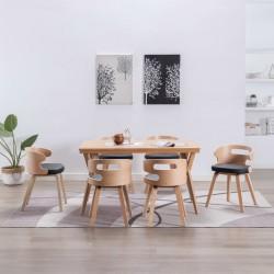 vidaXL Sillón egg giratorio con cojín terciopelo amarillo