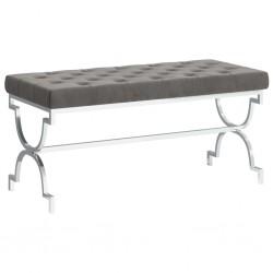 vidaXL Sillón de masaje reclinable con reposapiés tela gris claro