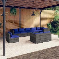vidaXL Sofá cama modular de 4 plazas de tela beige