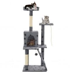 vidaXL Sillón de masaje reclinable para TV cuero sintético gris oscuro