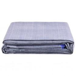 vidaXL  Set mesa plegable de masaje y taburete 10 cm de espesor blanco