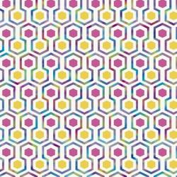 vidaXL Alfombra de retazos de cuero 80x150 cm chevrón marrón/blanco