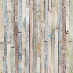 vidaXL Alfombra de retazos de cuero 160x230 cm chevrón negro/blanco