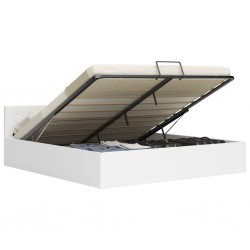 vidaXL Mueble para TV aglomerado blanco con brillo 2 piezas 120x40x34