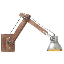 vidaXL Camilla de masaje 2 zonas estructura madera antracita 186x68 cm