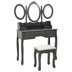 vidaXL Banco zapatero 2 unidades 2 en 1 madera maciza
