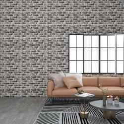vidaXL Sofá de palés para jardín 2 plazas gris madera
