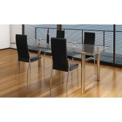 vidaXL Cama con colchón viscoelástico tela gris oscura 90x200 cm