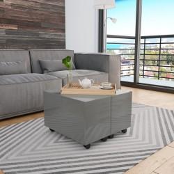 vidaXL Cama con colchón viscoelástico cuero sintético blanco 180x200cm