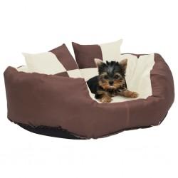 vidaXL Cama con colchón viscoelástico tela beige 180x200 cm