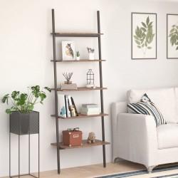 vidaXL Cama con colchón viscoelástico tela marrón 90x200 cm