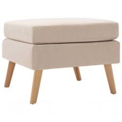 vidaXL Cama con colchón viscoelástico tela gris claro 180x200 cm
