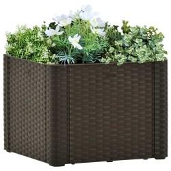 vidaXL Cama con colchón viscoelástico tela azul 120x200 cm