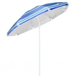 vidaXL Cama con colchón tela azul 180x200 cm