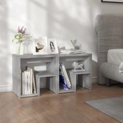 vidaXL Cama LED colchón viscoelástico arpillera gris oscuro 90x200 cm