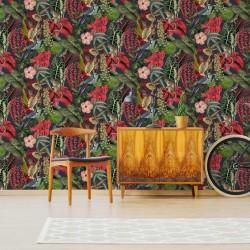 vidaXL Cama LED colchón viscoelástico arpillera gris oscuro 120x200 cm