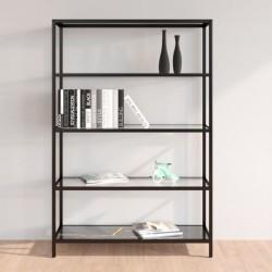 vidaXL Cama con LED y colchón viscoelástico tela azul 120x200 cm