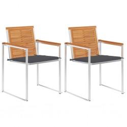vidaXL Cama con LED y colchón viscoelástico tela gris topo 120x200 cm