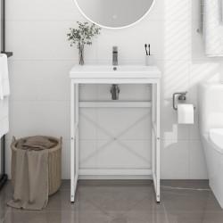 vidaXL Cama con LED y colchón tela gris claro 90x200 cm