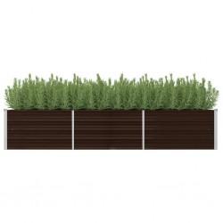 vidaXL Cama con LED y colchón tela azul 120x200 cm