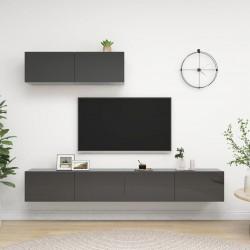 vidaXL Cama con colchón de terciopelo azul 160x200 cm