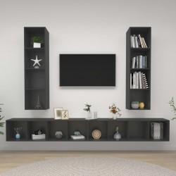 vidaXL Cama con LED y colchón viscoelástico tela gris claro 160x200 cm