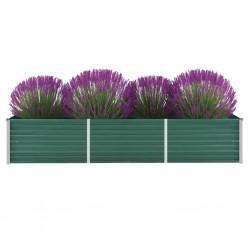 vidaXL Cama con LED y colchón viscoelástico tela azul 180x200 cm
