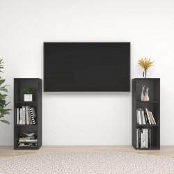 vidaXL Cama con LED y colchón viscoelástico tela verde 180x200 cm