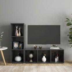 vidaXL Cama con LED y colchón viscoelástico tela gris topo 140x200 cm