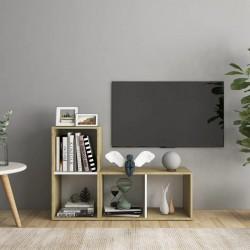 vidaXL Cama con LED y colchón viscoelástico tela gris topo 160x200 cm
