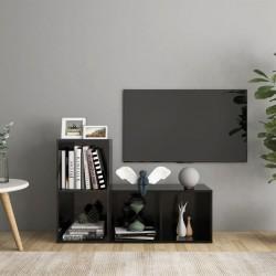 vidaXL Cama con LED y colchón viscoelástico tela gris topo 180x200 cm