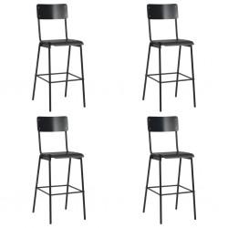 vidaXL Funda elástica para mesa 4 unidades 80 cm gris antracita