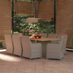 vidaXL Diván de masaje con almohada de cuero sintético color vino tinto