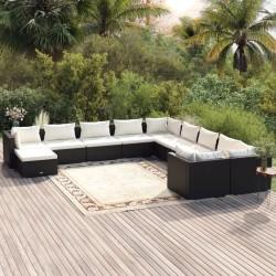 vidaXL Diván de masaje con almohada de cuero sintético gris