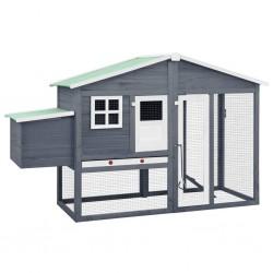 vidaXL Diván con almohada de cuero sintético gris